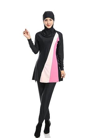 Kindoyo Womens Fashion Muslim Swimwear Modest Swimsuit Beachwear