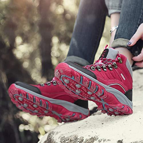 Outdoor Schuhe Trekking Damen Wanderschuhe Anti Pink 1 Herren Hiking Wanderhalbschuhe Sneaker Schuhe Rutsch LILY999 Wanderstiefel wagHpnnqx
