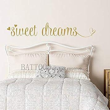 Amazon.com: BATTOO Bedroom Decal Sweet Dreams Vinyl Bedroom ...