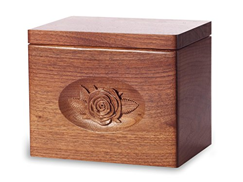 Cremation Urn - Standard Oak Wood with Black Walnut Stain...