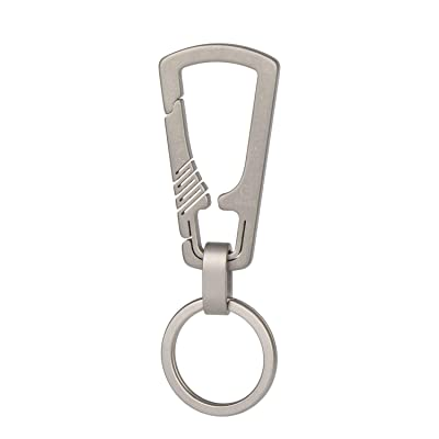 TISUR Mini Titanium Keychain Carabiner Clip Kit, Anti-Lost Quick Release Hook for Everyday Carry Keyring Customization (Kit-1): Shoes
