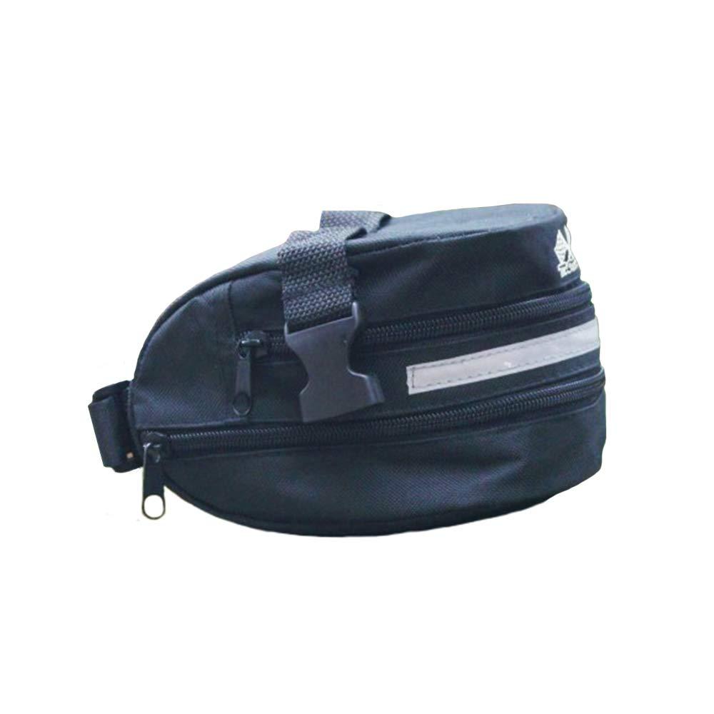 Xeminor 1 Pcs Mountain Bike Saddle Bag Waterproof Wear Resistant Bike Seat Storage Pouch for Cycling All Bikes(Black)