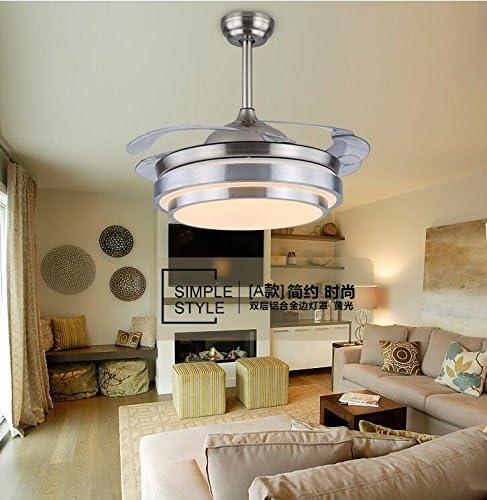 Ventilador de techo luz invisible ventilador lámpara dormitorio ...