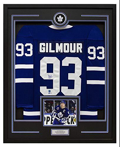 - AJ Sports World Doug Gilmour Toronto Maple Leafs Signed CCM Mass 35x43 Framed Hockey Jersey