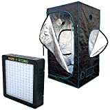 MarsHydro LED Grow Light (Mars II 700) Full Spectrum + Grow Tent (3'3'' x3' 3'' x5' 11'') Full Complete Kits Units for Growing Plants and Vegetables,Only for IndoorSpectrum(Reflector96 the 207W True Watt Panel)
