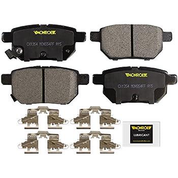 Black Hose /& Stainless Gold Banjos Pro Braking PBK4744-BLK-GOL Front//Rear Braided Brake Line