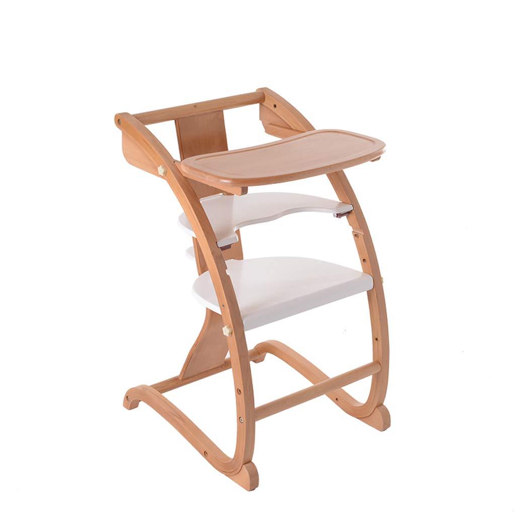 silla comedor Silla de comedor para niños Mesa de comedor multifunción de madera maciza Caballo mecedora