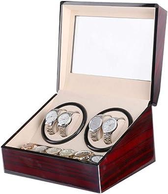 Caja Relojes Automaticos Caja de enrollador de Reloj automático 4 Modos, Carcasa de Madera, 2/4 + 6 (Color : L): Amazon.es: Relojes