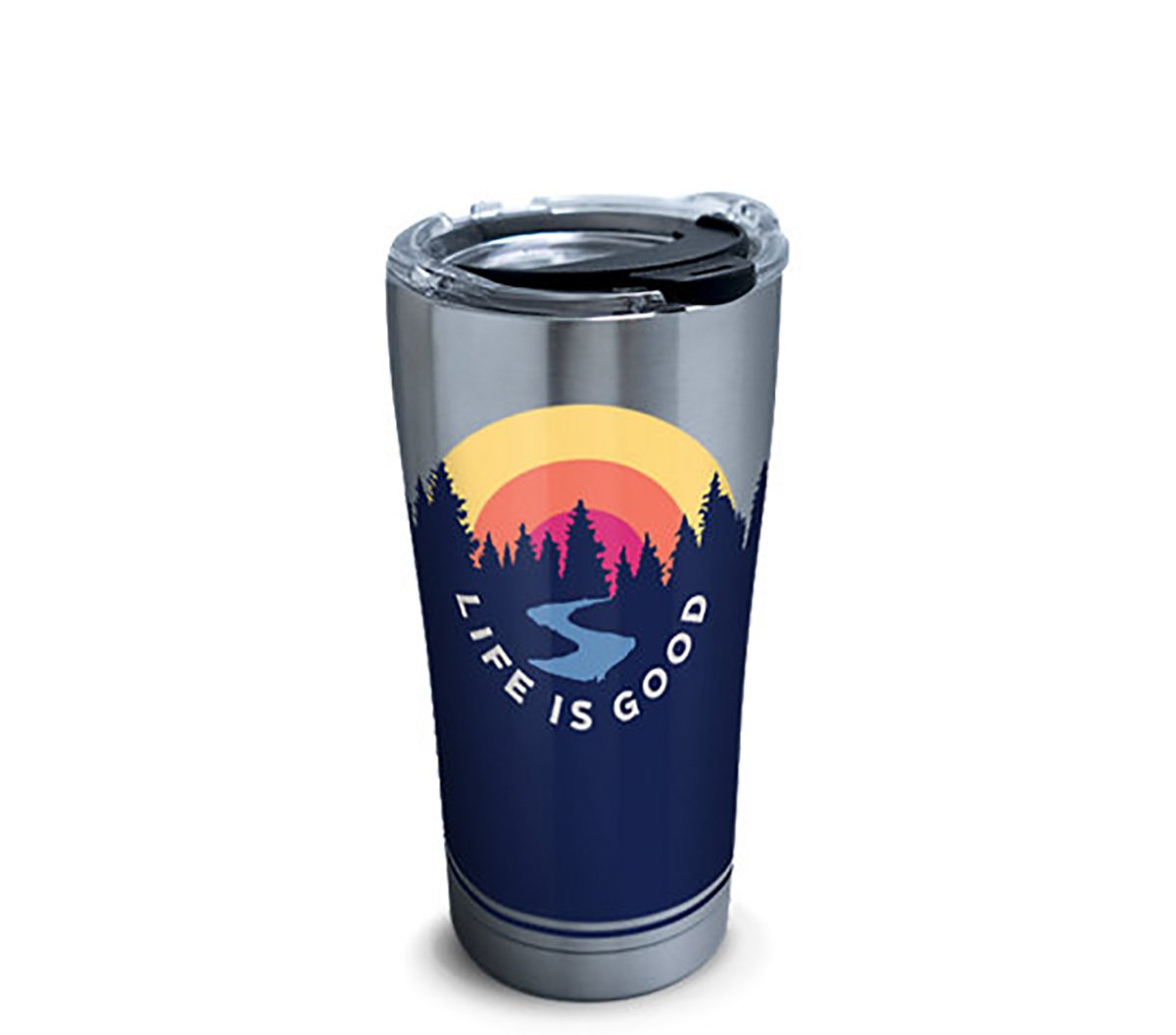 Tervis 1302578 Life is Good - Outdoor Scene Stainless Steel Insulated Tumbler, 20 oz, Silver