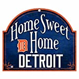 "MLB Detroit Tigers 10-by-11 Wood ""Home Sweet Home"" Sign"