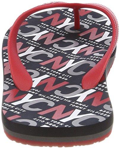 Tango Beach Print Men's Red Sandal Tommy Hilfiger Red City Flip 611 Flops cq6UwfWzTp
