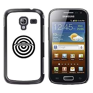 GOODTHINGS Funda Imagen Diseño Carcasa Tapa Trasera Negro Cover Skin Case para Samsung Galaxy Ace 2 I8160 Ace II X S7560M - blanco resumen toros minimalista ojo