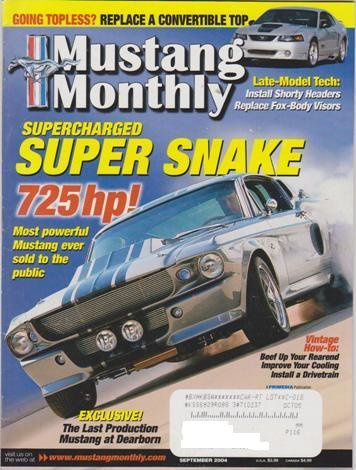 2004 Supercharged - Mustang Monthly Magazine (September 2004) (Supercharged Super Snake 725Hp!)