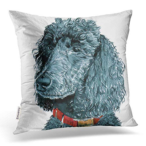 - Emvency Throw Pillow Covers Cute Black Poodle Animal Decor Pillowcases Polyester 18 X 18 Inch Square Hidden Zipper Home Cushion Decorative Pillowcase