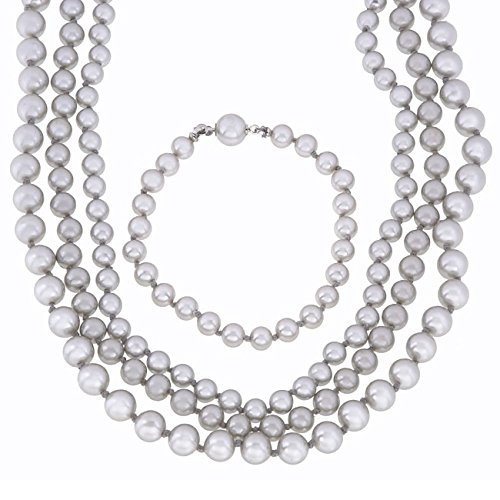 Victoria Creations 4 Pc Gray Faux Pearl Set 7