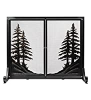 Alpine Fireplace Screen with Doors, Larg...