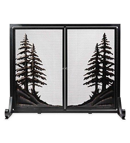 een with Doors, Large - 44 L x 33 W x 13.5 H - Black ()