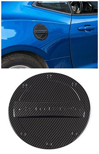 (FMtoppeak 5 Colors Exterior Fuel Tank Cover Gas Lid Cap Accessories ABS For Chevrolet Camaro 2016 Up (Carbon Fiber))
