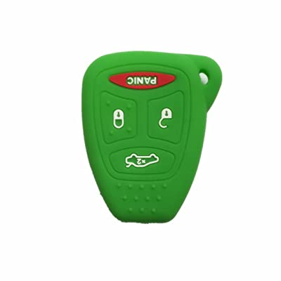 Green Silicone Rubber Keyless Entry Remote Key Fob Case Skin Cover Protector fit for 2006 2007 MITSUBISHI: Automotive