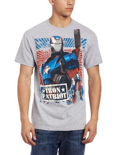 Gray Costume Man Iron (Marvel Men's Iron Man 3 Movie Rust Proof T-Shirt, Heather Gray,)