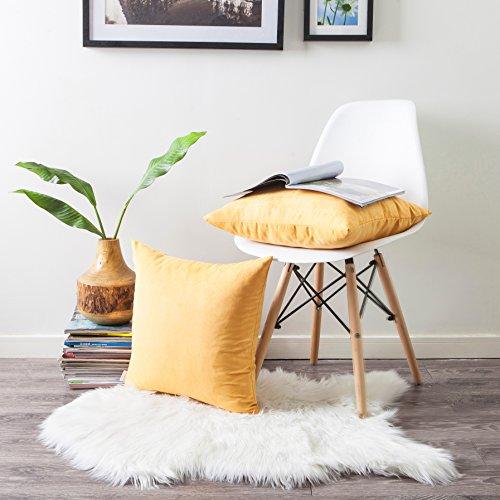 Suede Garden Pillow - Kevin Textile Decorative Cushion Cover Faux Suede Throw Pillow Cover Decor Square Pillowcase, 18