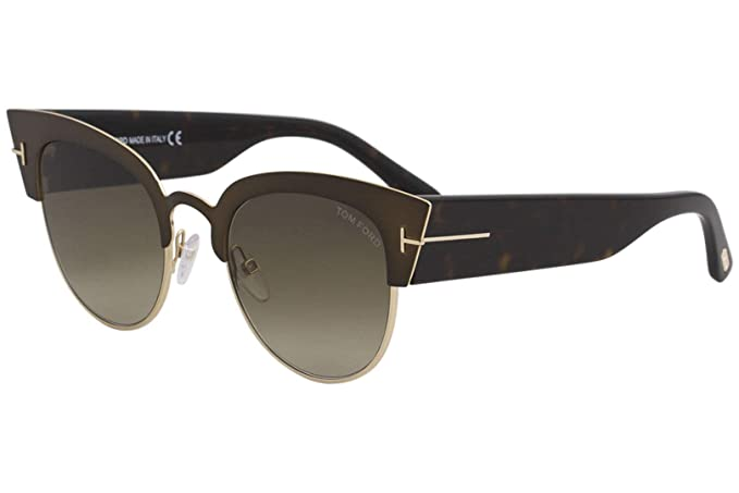 Amazon.com: Tom Ford ft0607 anteojos de sol – marco café ...