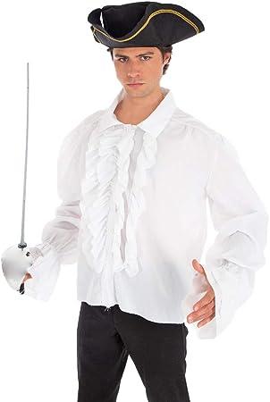 Generique - Camisa Pirata Blanca con Volantes Adulto: Amazon.es: Juguetes y juegos