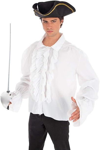 Alzapaños (Piratas Camisa Blanco – Camisa para disfraz Medieval Gótico barroco vampiro