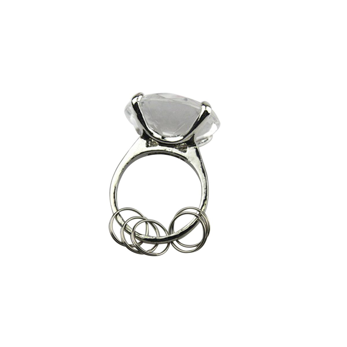 Amazon Bestoyard Big Diamond Ring Keychain Keyring Holders Wedding Gift Bridal Shower Party Favor Toys Games: Cat Maid Wedding Ring At Websimilar.org