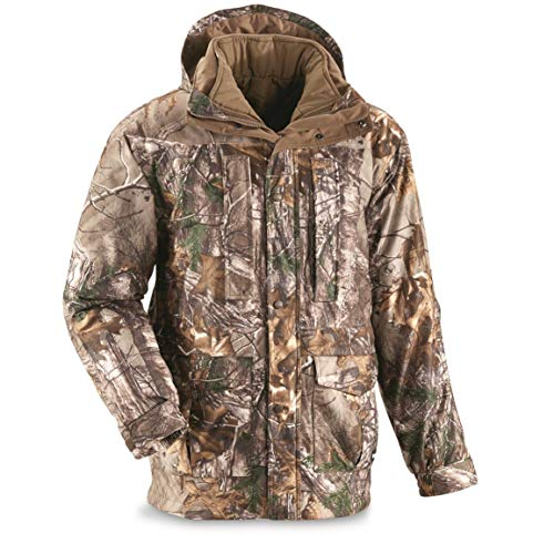 Guide Gear Steadfast 4-in-1 Hunting Parka, 150 Gram Thinsulate Platinum with X-Static, Waterproof, Realtree Xtra, 2XL