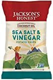 Jackson's Honest Salt and Vinegar Potato Chips Made With Coconut Oil, 5 Ounce