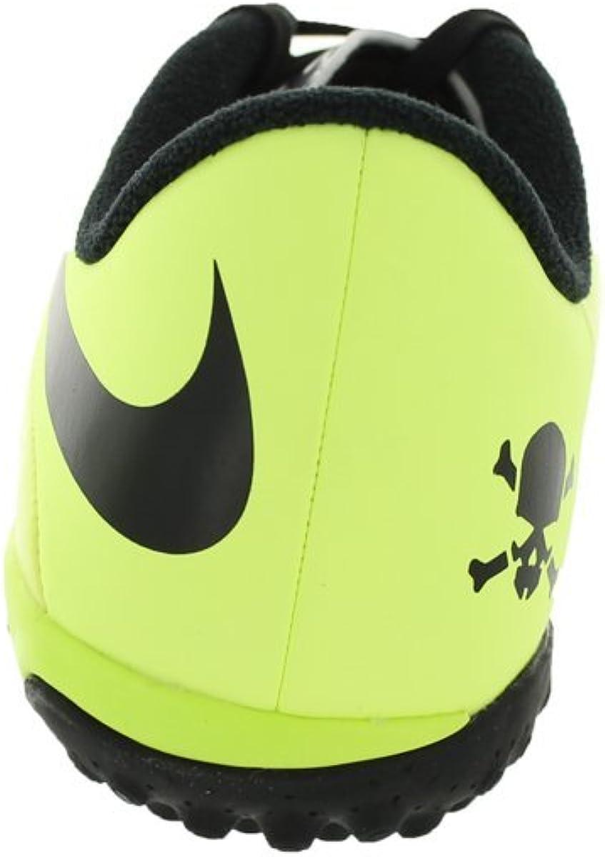 Nike Kids Jr Hypervenom Phelon TF Vbrnt Yllw//Blk//Mtllc Slvr//VLT Turf Soccer Shoe 3 Kids US