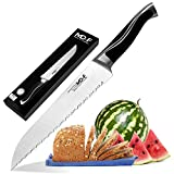 Bread Knife, Amz Soaring 8 Inch Professional Serrated Cake Slicer Knife German Steel for Home Kitchen or Restaurant with Gift Box