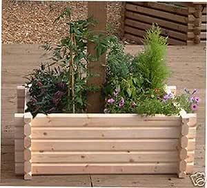 Norlogs - Macetero de Madera fácil de Construir Alrededor del Poste del árbol, etc. para jardín, Patio, terraza, 68, 6 x 91, 4 cm: Amazon.es: Jardín