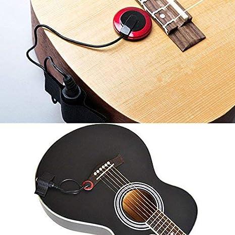 Micrófono de Contacto Piezo Pickup Violín Micrófono Pickup Cello Banjo Ukelele Mandolina Guitarra Micrófono Pickup Contacto Micrófono Amplificador Piezo ...