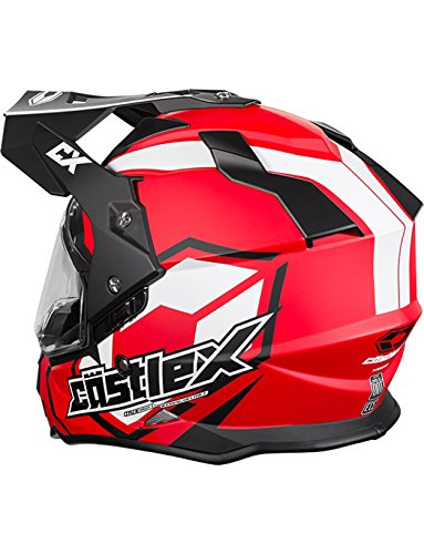 Castle X Mode Dual-Sport SV Team Snowmobile Helmet (XLG, Red) by Castle X (Image #1)