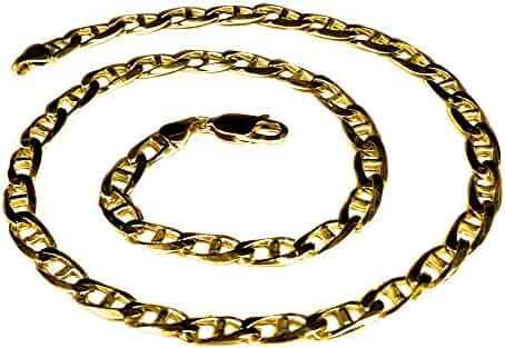 14k Solid Yellow Gold Anchor Mariner chain/necklace 6 MM 60 Grams 30