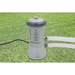 Intex 28604GS – Pompa con Filtro a Cartuccia 600 GPH (12 V), Grigio, 17,1 x 18,4 x 32,8 cm