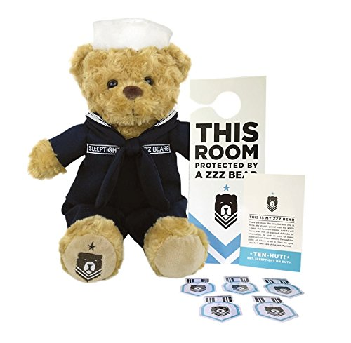 ZZZ Bears Sailor Sleeptight U.S. Navy Teddy Bear with Crackerjack Uniform and Military Grade Sleep System