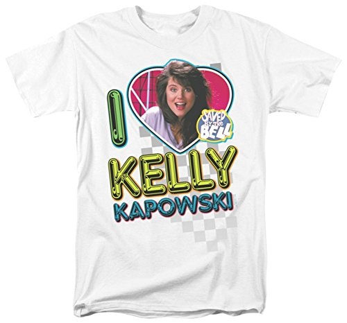 Saved By The Bell-I Love Kelly T-Shirt Size L (Kelly Kapowski Saved By The Bell)