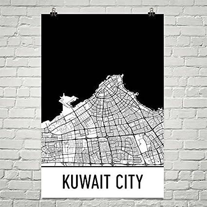 Amazon com: Kuwait City Map, Kuwait City Art, Kuwait City Print