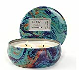 LA JOLIE MUSE Citronella Candles Scented Soy Wax 3 Wick Tin, 70 Hour Burn, Outdoor and Indoor