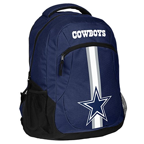 Forever Collectibles NFL Dallas Cowboys Action Backpack, Team Color, One Size