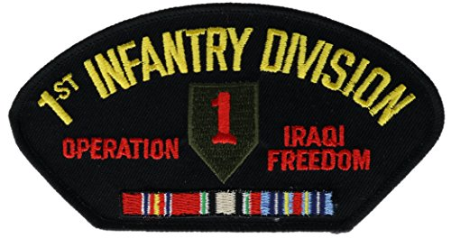 1st Infantry Division Iraqi Freedom Veteran Hat or Shoulder 5 inch Patch (Iraq Patch)