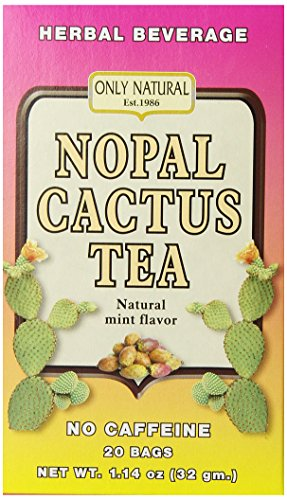 - Only Natural Nutritional Supplement, Nopal Cactus Tea, 20 Count