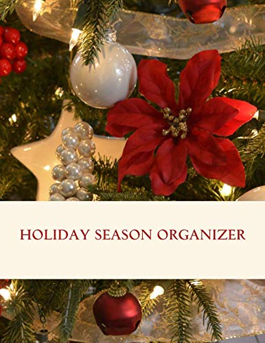 Holiday season organizer: Templates for planning the perfect Thanksgiving, Christmas and New Year's Eve. It includes menu planners, shopping lists, ... about decorations, gifts, cards and more. -