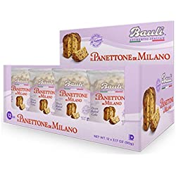 Bauli Panettone Traditional Italian Holiday Cake, 3.5 Ounce (Pack of 12)