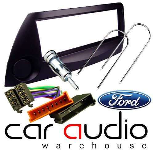 FORD KA BLACK FULL CAR STEREO/RADIO FITTING KIT - Includes a Black Facia Adapter, Removal Keys, Aerial Adapter and ISO wiring harness.: Amazon.co.uk: Electronics