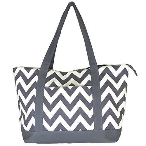new-high-quality-zippered-pattern-prints-x-large-roomy-canvas-tote-bag