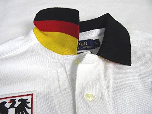 """Ralph Lauren Herren Polo - """"Germany"""" - Weiß"""